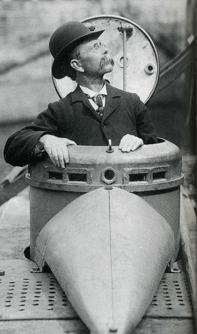 John-Holland-in-submarine
